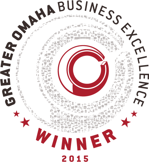 Greater Omaha Chamber of Commerce business excellence award logo